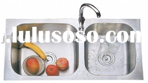 stainless steel industrial wash basin double bowl sink