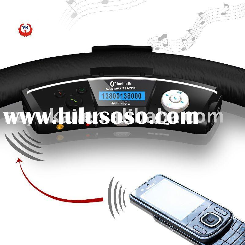 steering wheel wireless fm transmitter handsfree bluetooth car kit