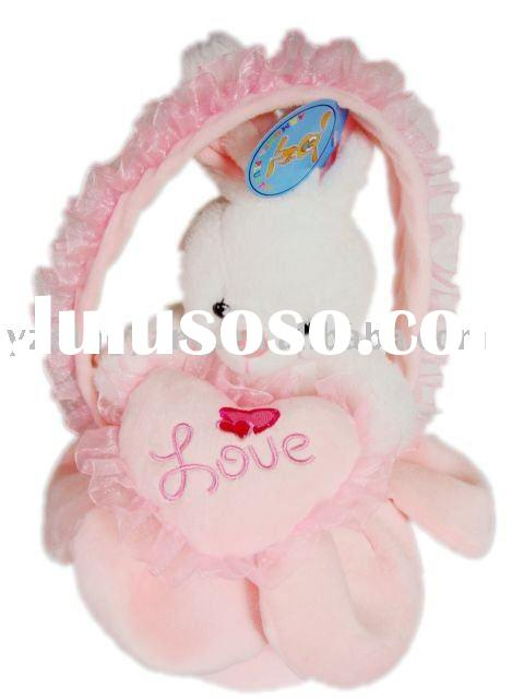 stuffed plush toy rabbit toy for wedding