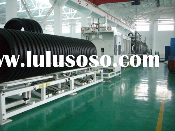 supply HDPE PVC Double Wall Corrugated Pipe Production Line