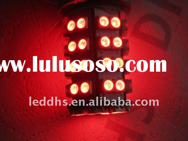 switchback led bulb 3157 60SMD red&amber led traffic signal light