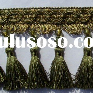 tassel fringe beaded fringe tassel braid fringe tassel for curtain