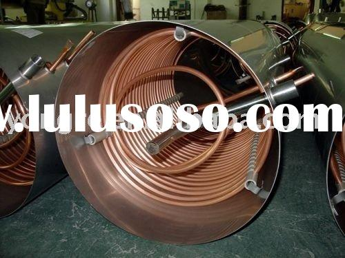 thermosiphon solar water heater, copper coil solar water heater