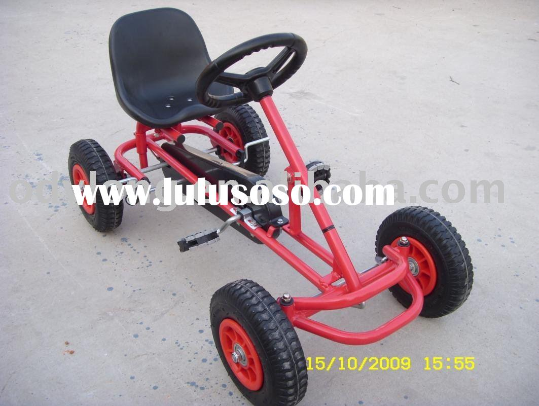 toy pedal car with steering wheel,metal toy pedal go kart,china go kart