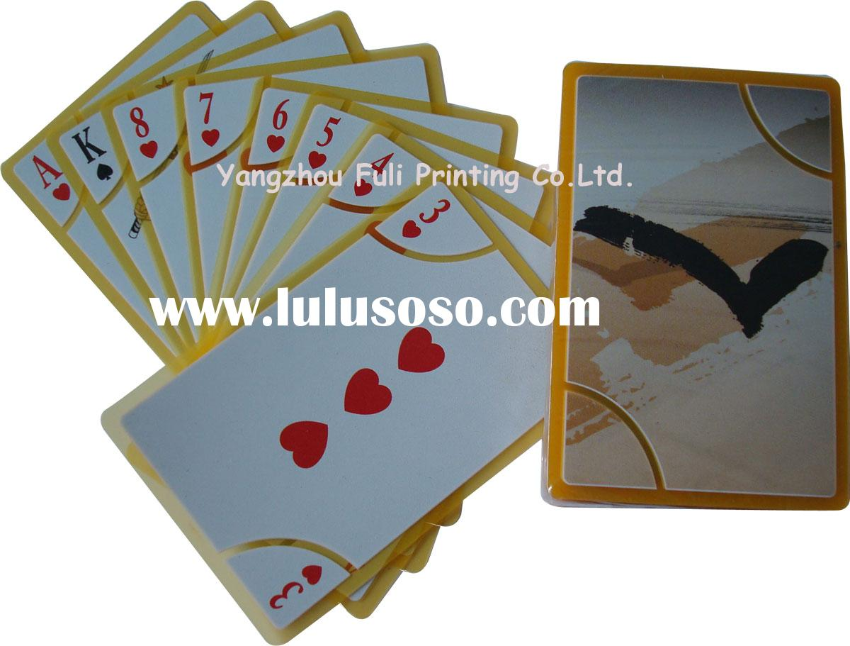 transparent plastic playing card/poker