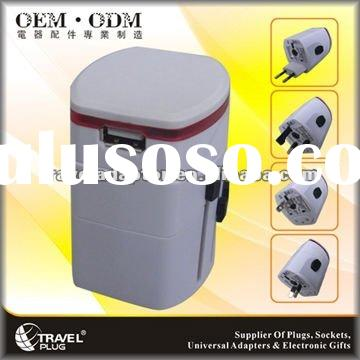 travel plug adapter convertor USB 2012 hot top popular