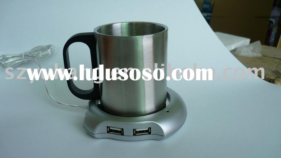 usb cup warmer with 4 port usb hub
