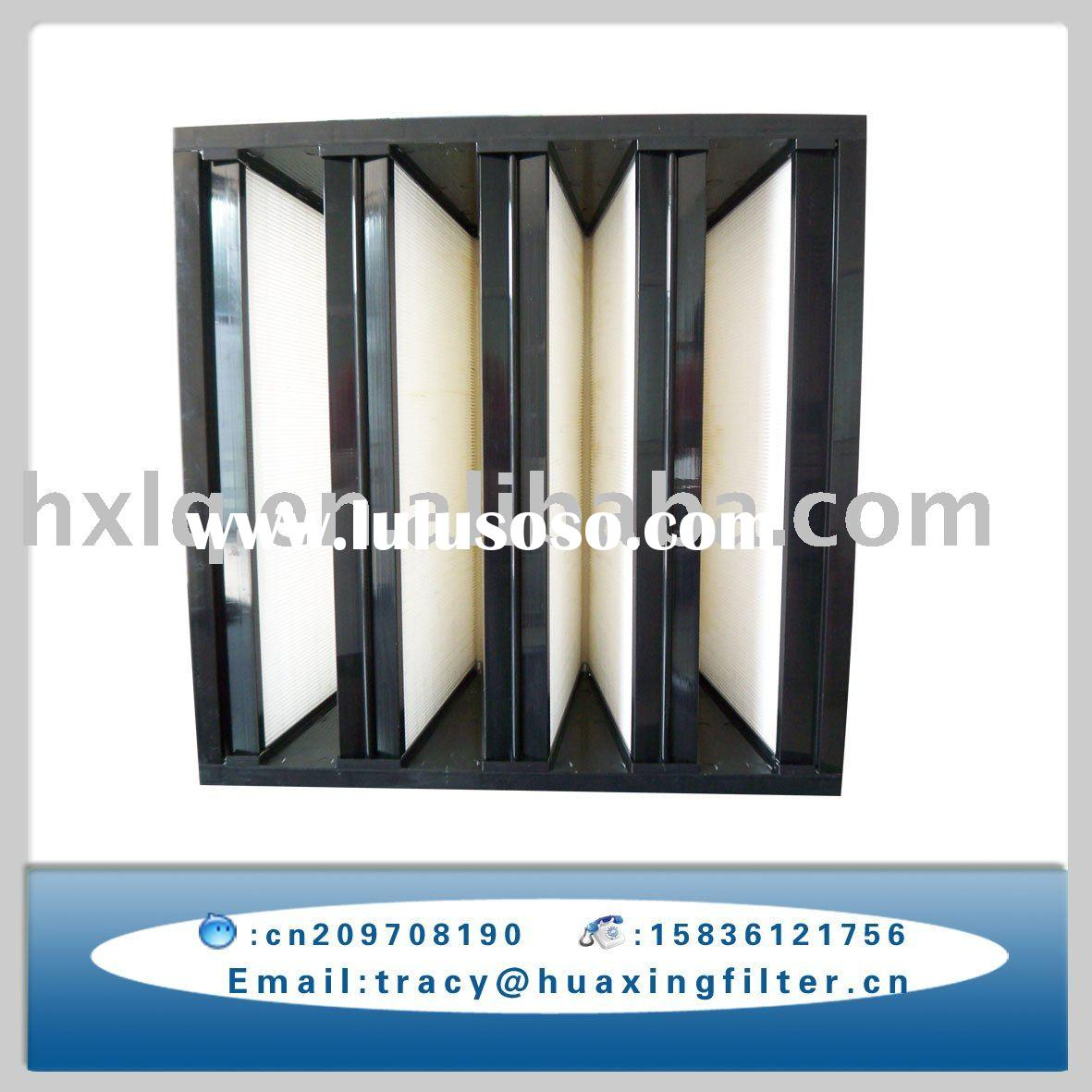 v-bank air pleated filter