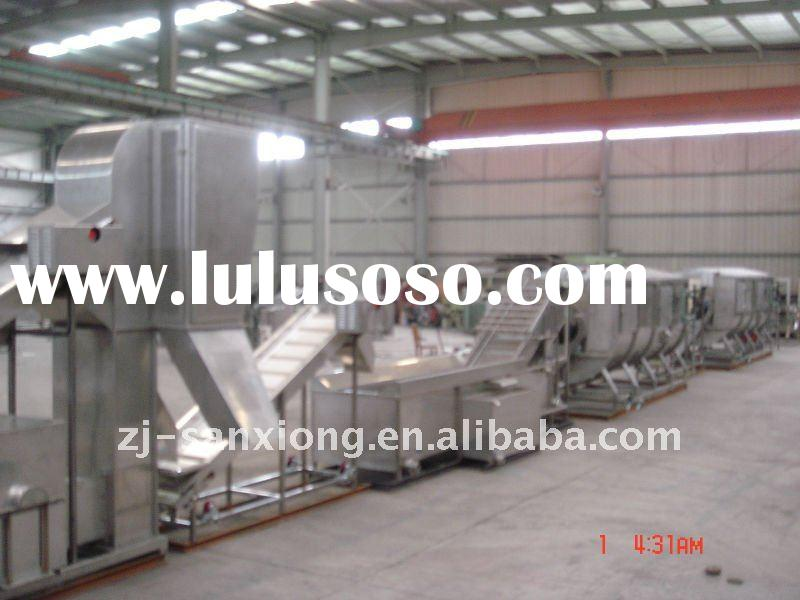 vegetable fruit processing line for quick frozen