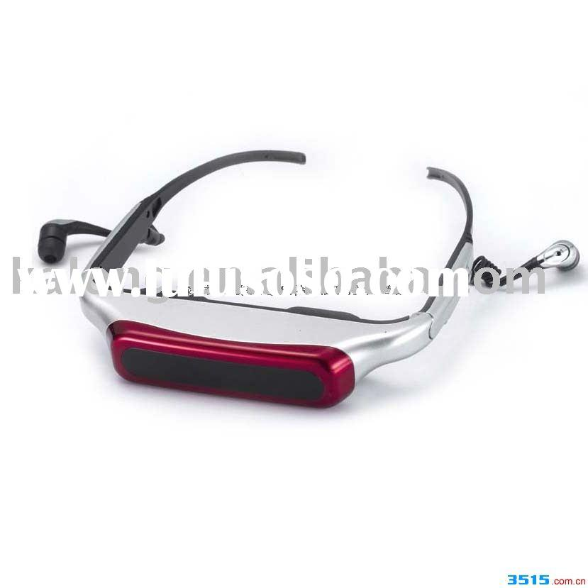 video glasses/portable video glass/video glass monitor/mp4 mp5 video glass/TV accessory