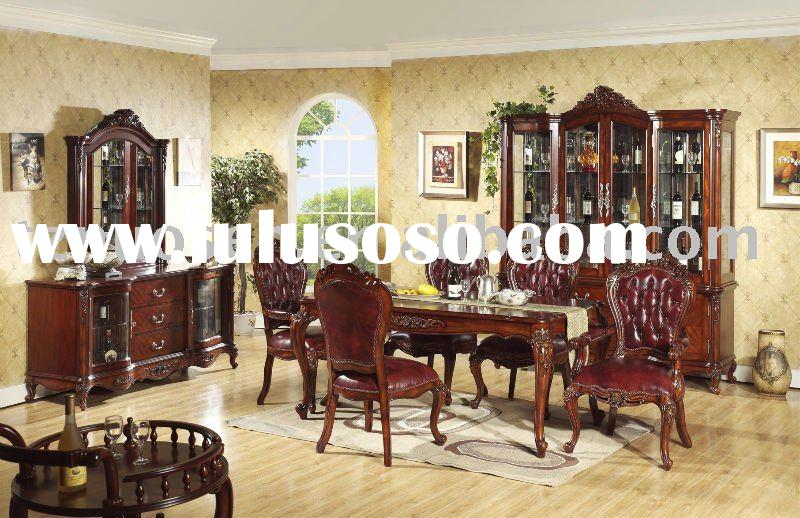 vintage solid wood dining room furniture NS-9811