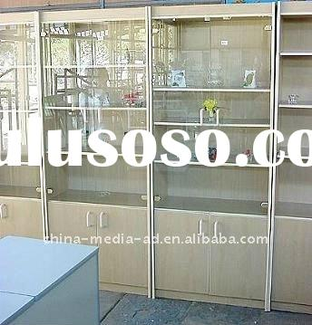 wall mount glass display cases