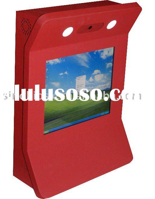 wall mounted touch screen kiosk;wall mounted internet kiosk;