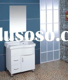 white PVC washing clothes bathroom cabinet furniture hot sell in North America supermarket
