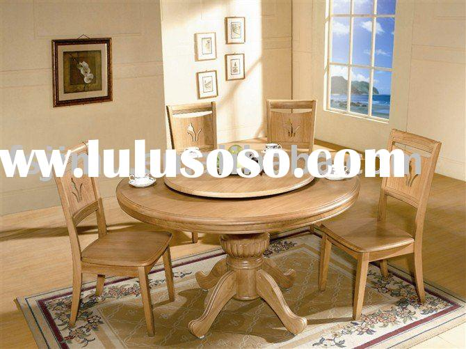 white oak restaurant rolling round table top and chairs