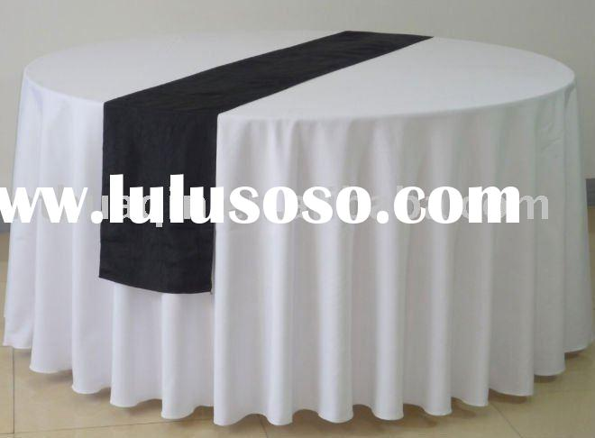 white polyester tablecloth banquet table linens wedding table runners