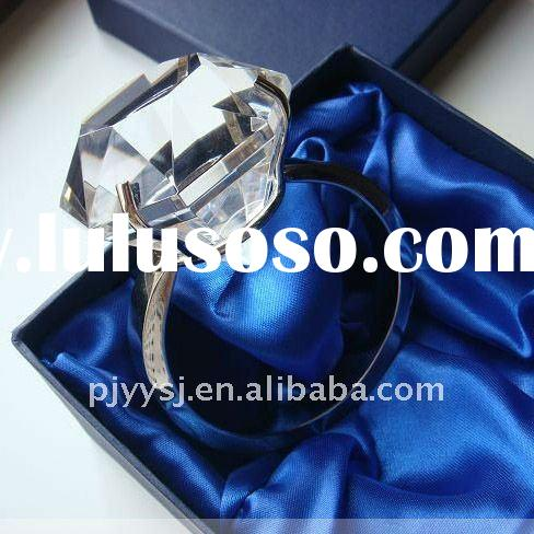 wholesale crystal napkin ring