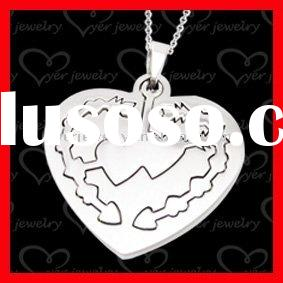 wholesale jewelry/stainless steel jewelry/ design could be customized/heart pendant
