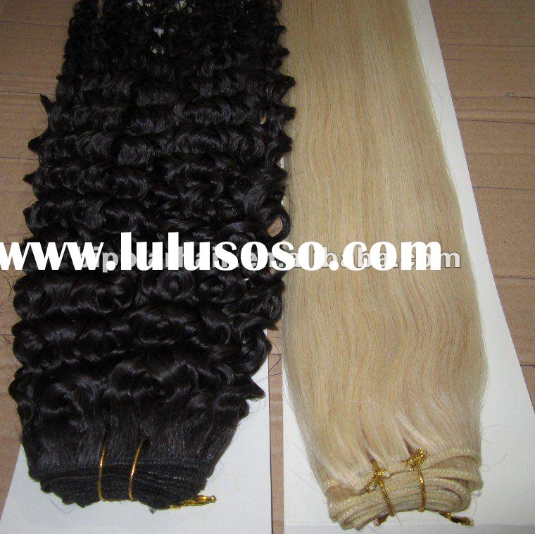 wholesale top quality curly and straight human hair weave distributors