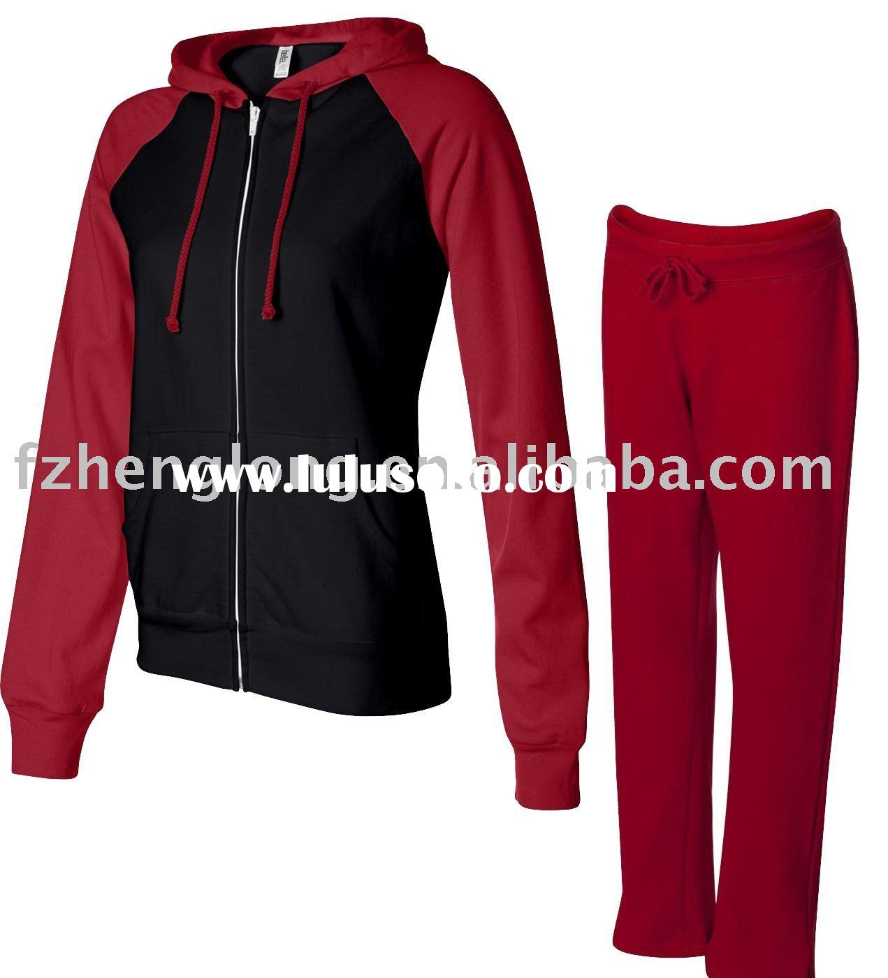women's autumn and winter french terry track suit,cotton sportswear