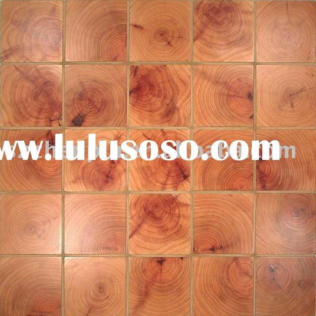 wood mosaic wall panel end grain wood block