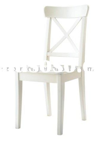 "wooden dining room chair w/o fabric seat --""X"" back"