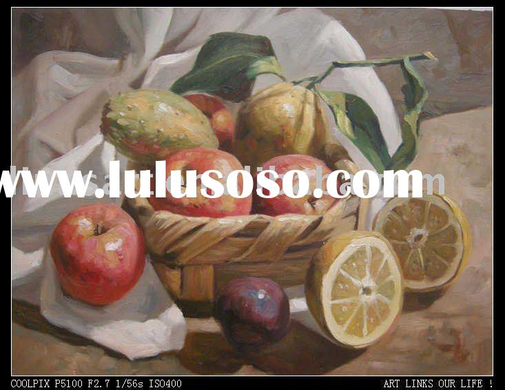 100% Handmade Oil Painting Original Still Life Painting Canvas Fruit Painting