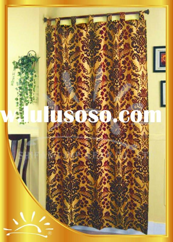 100%Polyester Damask window curtain