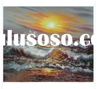 100% hand painted sea landscape oil painting
