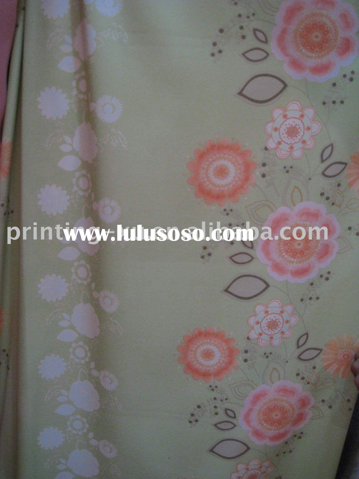 100% polyester flower curtain transfer printed fabric & paper Y-0231