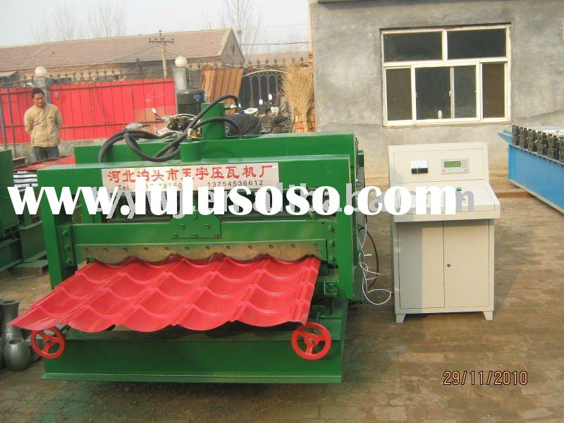 1035 Circular Automatic glazed tile roof roll forming machine