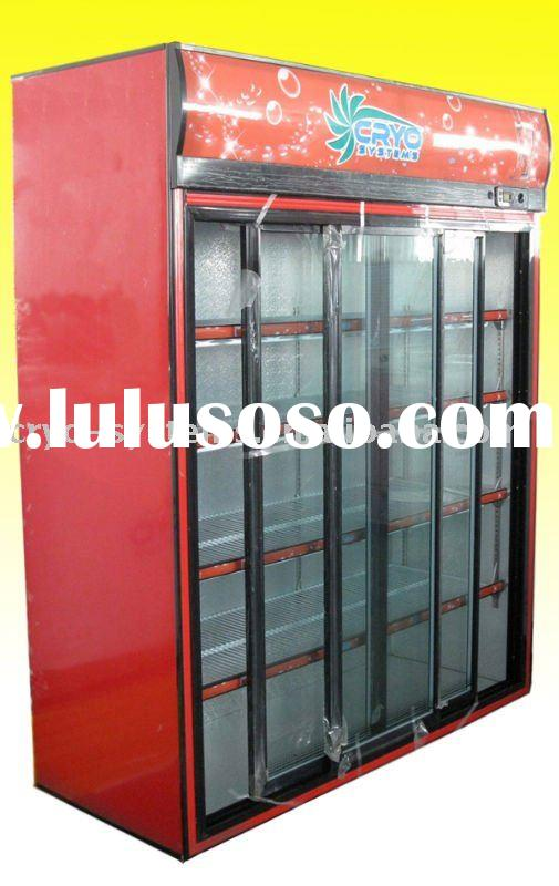 1068L GLASS DOOR DISPLAY COOLER,vegetable commercial showcase with glass door,showcase and display