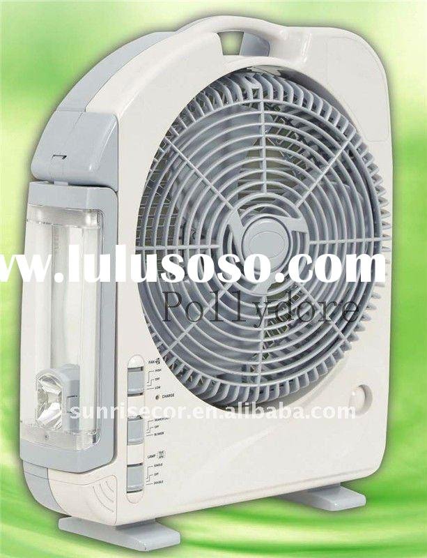 Battery Operated Fans : Rechargeable fan with lamp