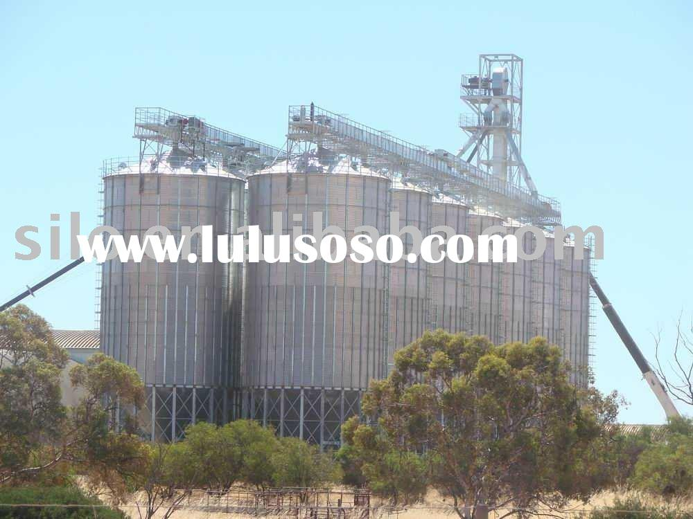 14x1000t wheat steel hopper bottom silos