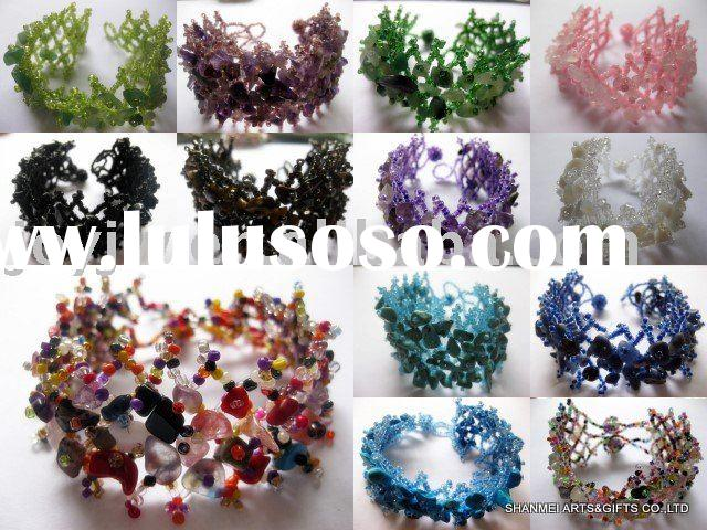 2010 new design handmade nature semi-precious stones bracelets jewelry