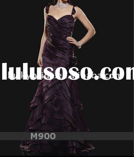 2011 Dark Purple A-line Trumpet Wedding dress Evening dress bride gown bridal Dress Prom dress