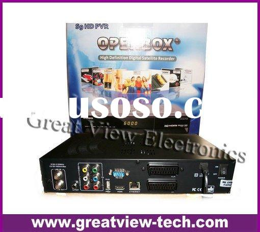 2011 High quality hot sale digital set top box Openbox s9 HD PVR,high definition satellite receiver