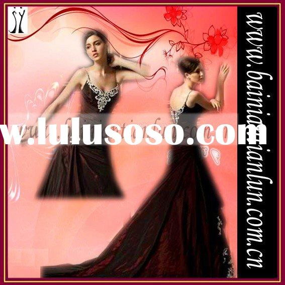 2011 Latest dark red Design Wedding Dress/ Best sale Design70%~90%