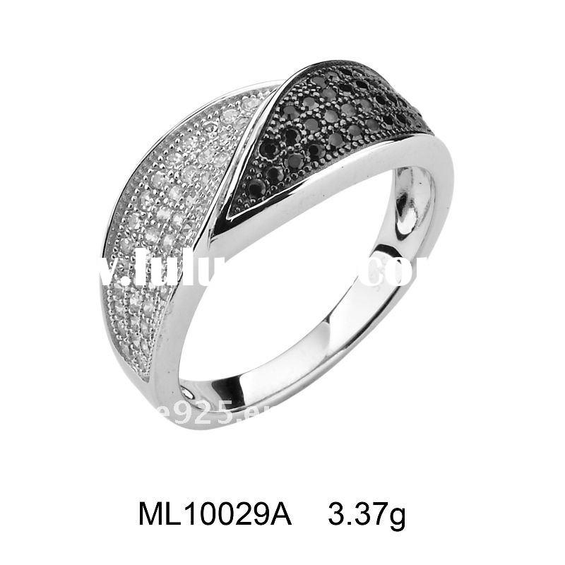 2011 Luxurious Micro Setting 925 sterling silver fashion ring