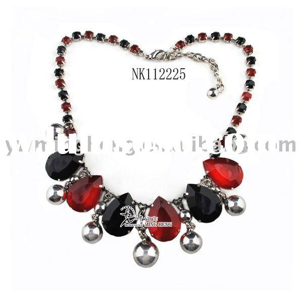 2011 New Acrylic Stone Fashion Necklace Jewelry