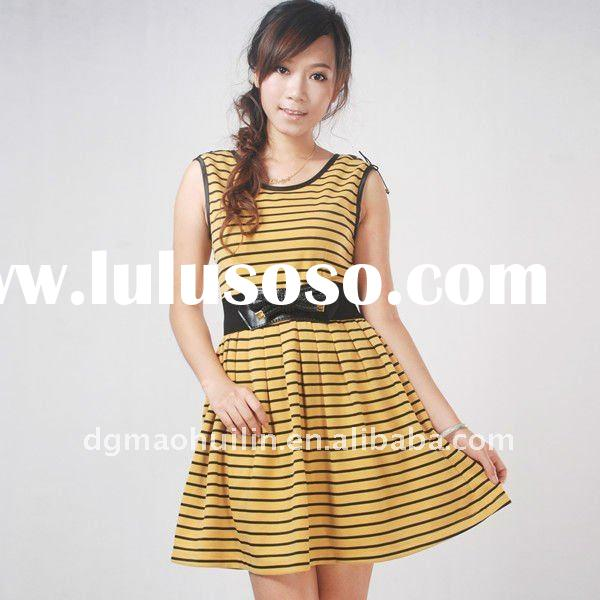 2011 New Design Fashion Ladies Stripe Dress