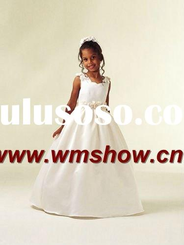 2011 New Design White Ballgown Fairy Flower Girl Dress