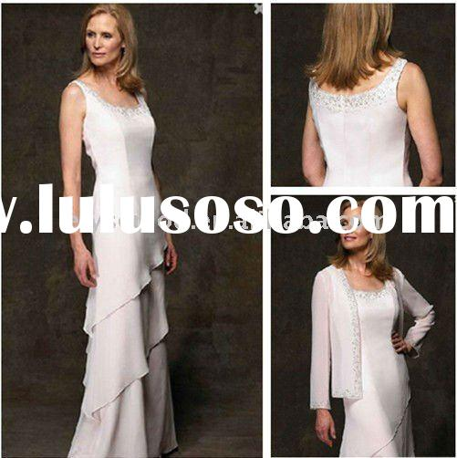 2011 New Spring Design White Chiffon Mother of the Bride Suits