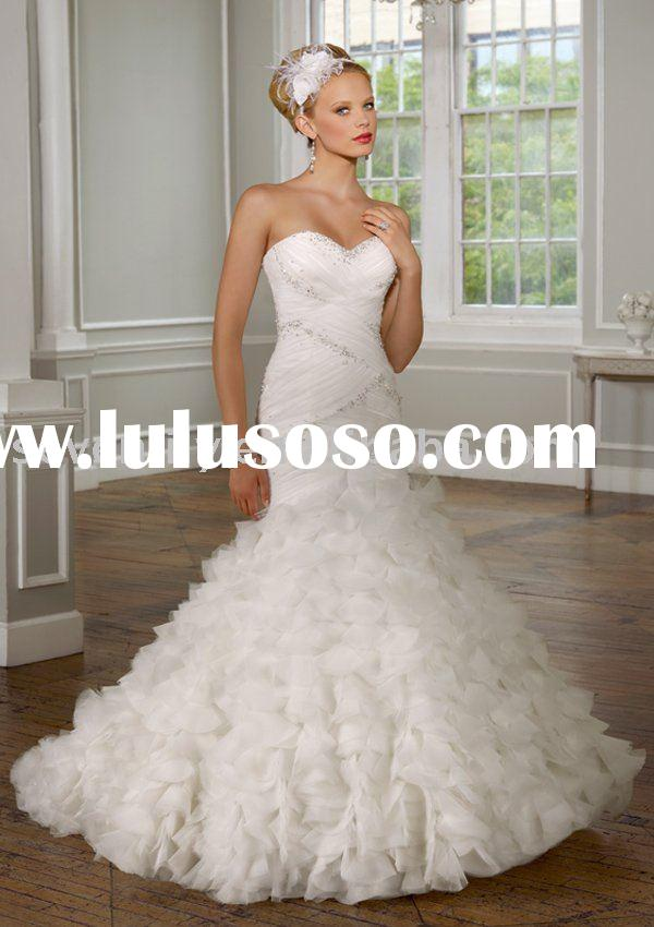 2011 Tulle with jeweled beading designer wedding dresses
