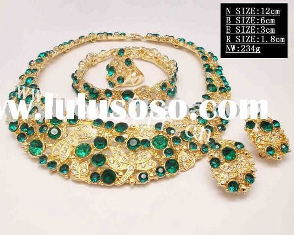 2011 fashion gold plated african jewelry sets