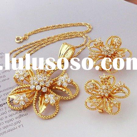2011 fashion jewelry set gold plated jewerly