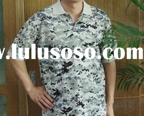 2011 fashion style polo tshirts mens short sleeves camouflage