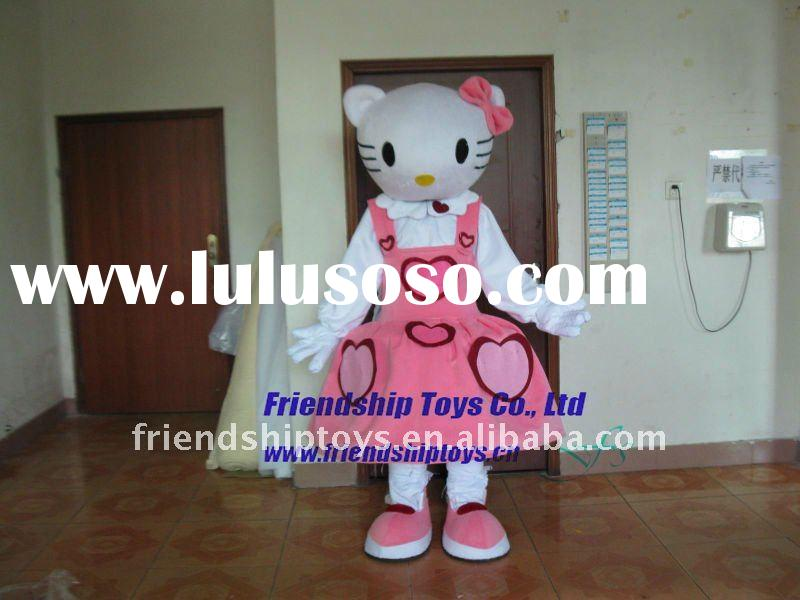 2011 hello kitty cat adult mascot costume