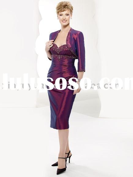 2011 hot sale elegant mother of the bride dress with long sleeve jacket MD-0001