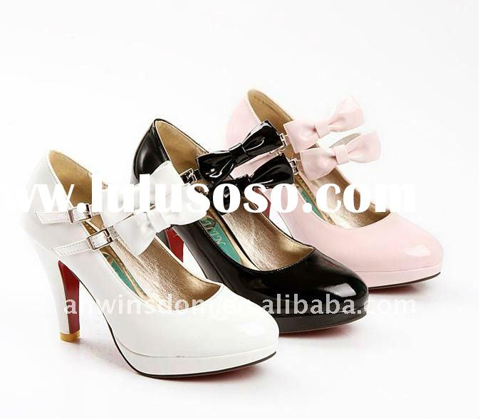 2011 lady's European and American style buckle ball peen high heel shoes